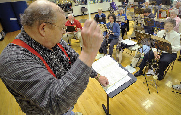The New Horizons Band of Hagerstown conducted by Dave McCandless, pictured, performs a musical tribute to longtime local band director Peter Buys at 7:30 p.m. Saturday, June 30.