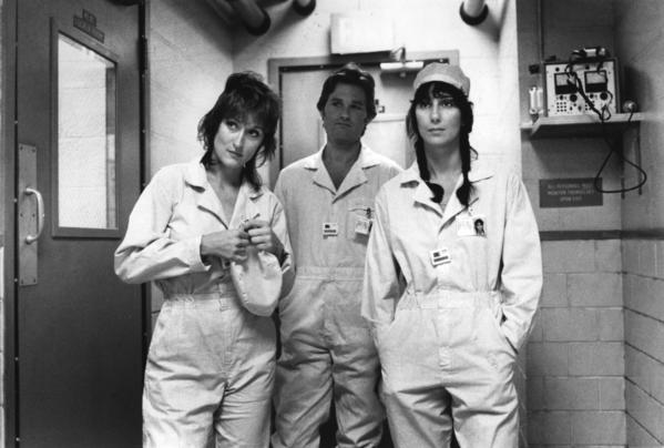 "Ephron and co-writer Alice Arlen earned an Academy Award nomination for original screenplay for ""Silkwood,"" based on the true story of plutonium plant whistleblower Karen Silkwood. The film starred Meryl Streep, left, Kurt Russell and Cher. <style type=""text/css"">