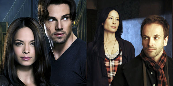 "Kristin Kreuk (from left) and Jay Ryan of ""Beauty and the Beast,"" and Lucy Liu and Johnny Lee Miller of ""Elementary,"" will be at San Diego Comic Con."