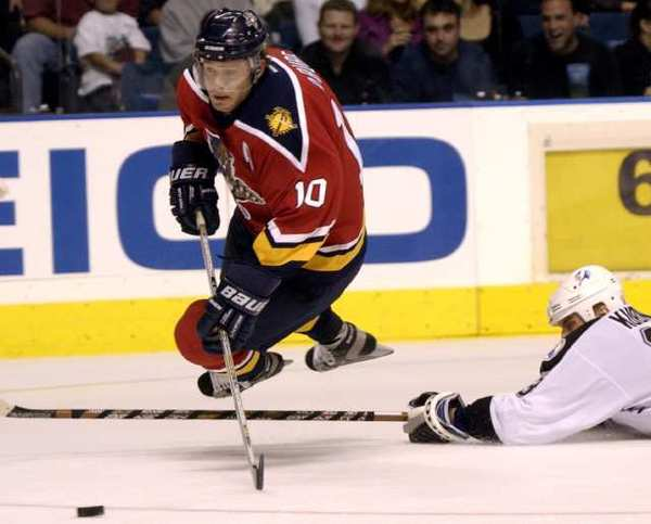 Pavel Bure, with the Florida Panthers in 2002, is on his way to the Hockey Hall of Fame.