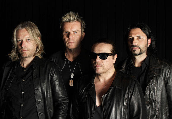 The band -- Chris Wyse (bass), left, Billy Duffy (lead guitar), Ian Astbury (lead vocals) and John Tempesta (drums).