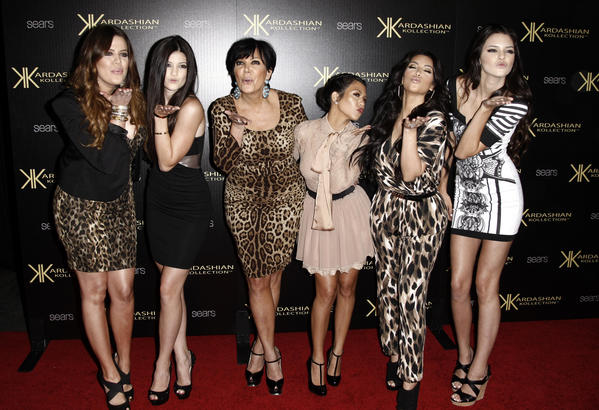 "Khloe Kardashian, left, Kylie Jenner, Kris Jenner, Kourtney Kardashian, Kim Kardashian and Kendall Jenner arrive at the Kardashian Kollection launch party in Los Angeles. The Kardashians sat down with Oprah Winfrey in ""Oprah's Next Chapter."""