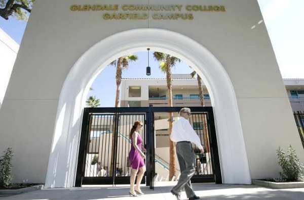 The Glendale Community College Garfield campus. Budget cuts are creating a tense environment at the college.