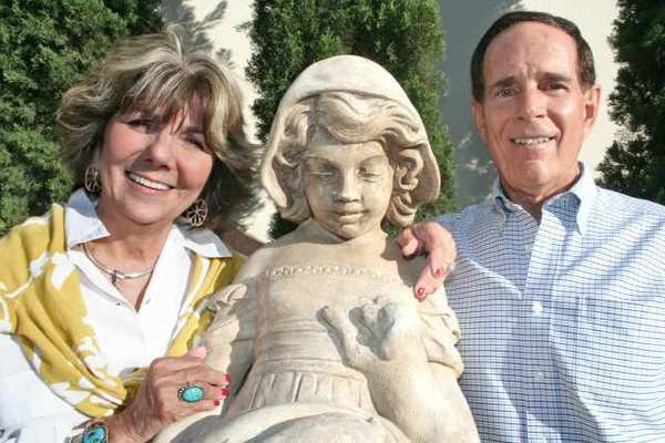 Paula and Art Devine enjoy the Glendale-Crescenta Valley Red Cross fundraiser at Forest Lawn and its picturesque statues.