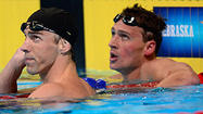 Brendan Hansen may have won a ticket to London on Tuesday night with a victory in the 100-meter breaststroke race, but he's found time as well to watch the rivalry that's riveted everyone: Michael Phelps and Ryan Lochte.