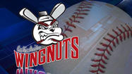 "<span style=""font-size: small;"">The Wichita Wingnuts beat the St. Paul Saints 10-1 at Lawrence-Dumont Stadium on Tuesday night. </span>"