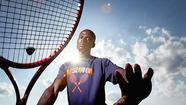 Boys tennis: Reservoir junior Biyik Akinshemoyin