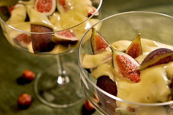 Spoon a sherry-based zabaglione over figs.