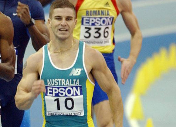 Australian sprinter Daniel Batman competes in 2003.
