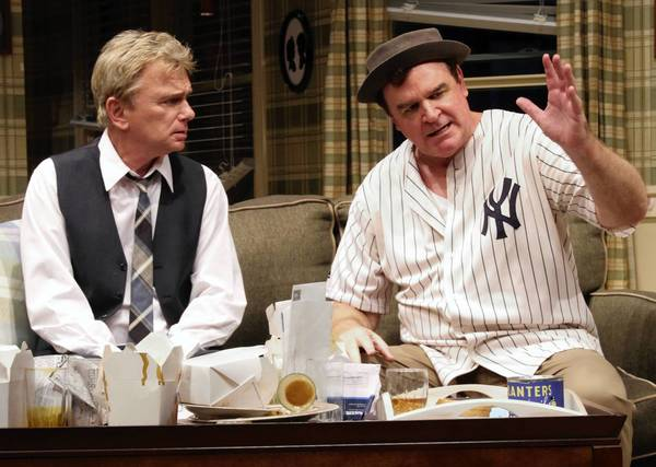 Pat Sajak, left, and Joe Moore play 'The Odd Couple' at Connecticut Repertory Theatre at the University of Connecticut through July 7.