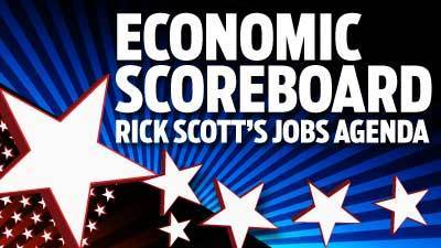 Economic Scoreboard: Rick Scott's jobs agenda