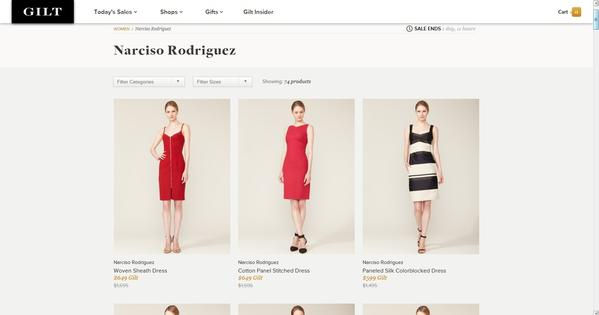 Limited-time sales site Gilt.com offers luxury goods at a discount. Similar sites have exploded since the recession.