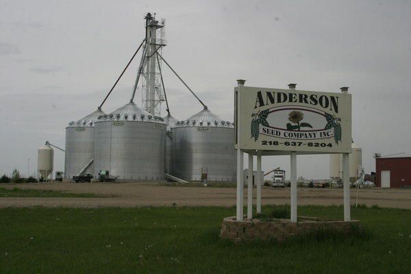 Anderson Seed Company in Redfield is closed after the company went out of business earlier this year. A load of sunflower seeds was being removed Tuesday by a truck from St. Hilaire Seed Company. American News Photo by Jeff Natalie-Lees