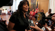 Ald. Sandi Jackson today spoke briefly to reporters but provided scant information about her husband U.S. Rep. Jesse Jackson Jr.'s condition or whereabouts since he announced he was on medical leave from Congress.