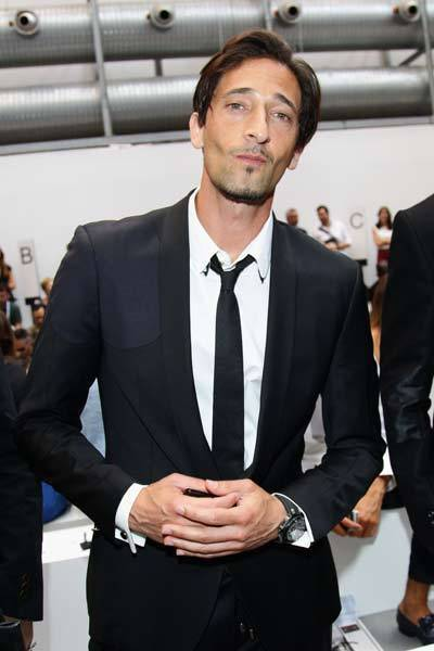Adrien Brody attends the Diesel Black Gold show as part of Milan Fashion Week Menswear Spring/Summer 2013 on June 26, 2012 in Milan, Italy.