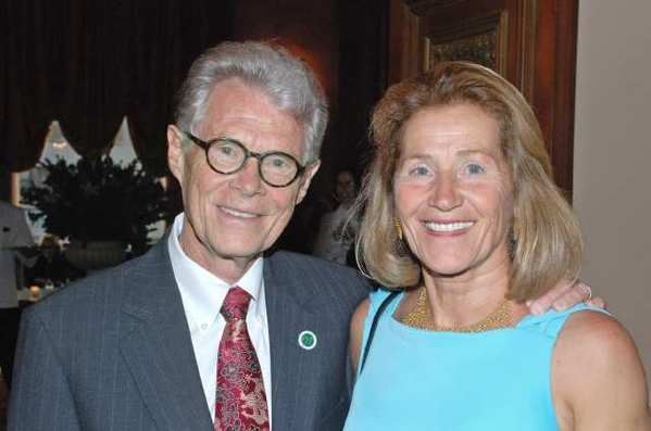 Retiring Woodbury University President Kenneth Nielsen and his wife Rose at The Jonathan Club.