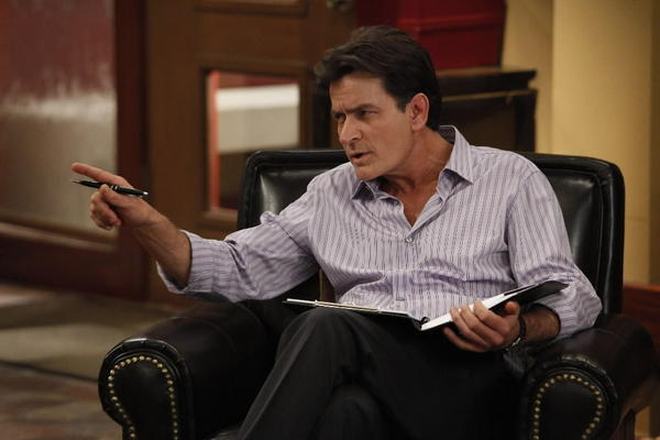 "Charlie Sheen stars as a therapist in the FX comedy ""Anger Management."""