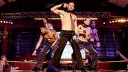 "It's crazy to oversell ""Magic Mike,""or fluff it up into something its makers never intended. It is not a major motion picture. It is not searing melodrama, though in story outline terms — the least interesting terms by which to engage with director Steven Soderbergh's loose, funky and blithely engaging workplace comedy — it resembles ""Showgirls"" with showboys, though without the hysteria or the punitive humiliation."