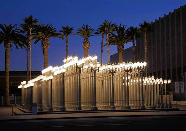 """Urban Light"" by Chris Burden has been a bright spot on Wilshire for LACMA since 2008."