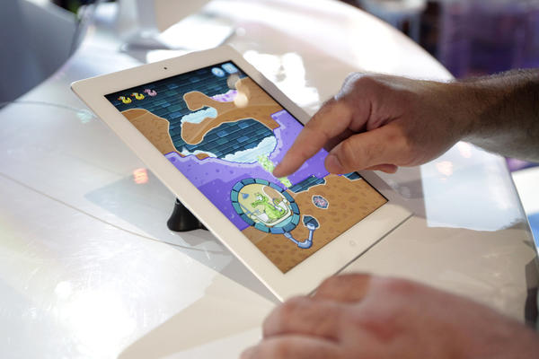 "Disney's ""Where's My Water"" iPad game is shown at E3 in Los Angeles."