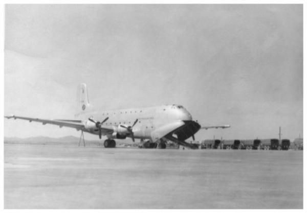 The C-124 Globemaster II, which entered Air Force service in 1950 as the world's largest aircraft, could carry 68,500 pounds of cargo or 200 passengers on two decks, making it the Air Force's primary heavy-lift transport into the 1960s.