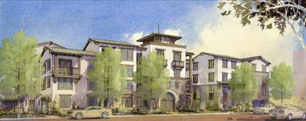 Veterans Village, a 44-unit project that will give preference to veterans, was approved by the City Council Tuesday. This is an initial rendering of the project, which may change designs as it makes its way through City Hall and the Design Review Board.
