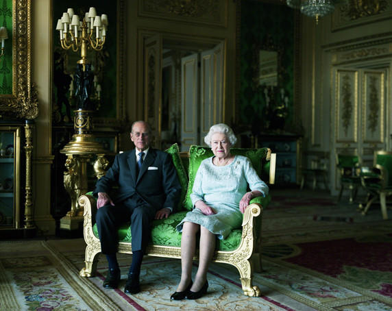 """The Queen and Prince Philip, the Duke of Edinburgh"" is on display at the ""Queen: Art & Image""  exhibition at the National Portrait Gallery in London."