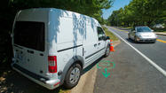 When the 50-year-old driver handed over his slingshot, he admitted to pelting the speed camera van with glass marbles.