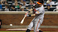 Orioles' Nick Johnson leaves game with wrist injury