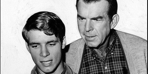 "Don Grady, left, played Fred MacMurray's son on the popular family sitcom ""My Three Sons."""