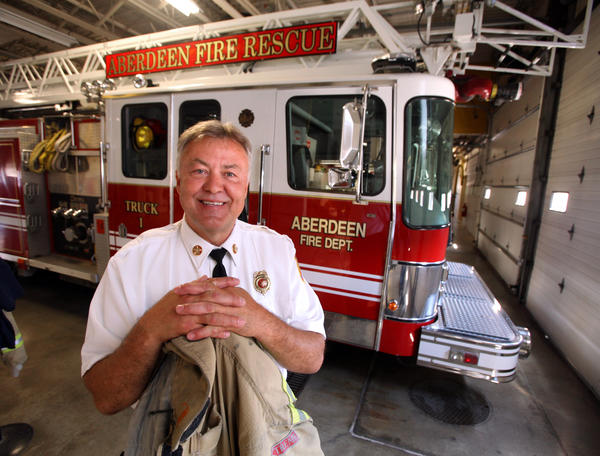 Aberdeen Fire and Rescue chief Bill Winter is leaving the bunker coats and fire trucks behind as he retires. American News Photo by John Davis