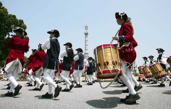 The Fifes and Drums of York Town are part of the Independence Day Parade in Yorktown each year.