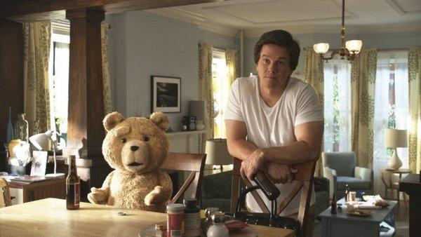 "Mark Wahlberg stars as a man whose best friend is a teddy bear (voiced by Seth MacFarlane) in ""Ted."""