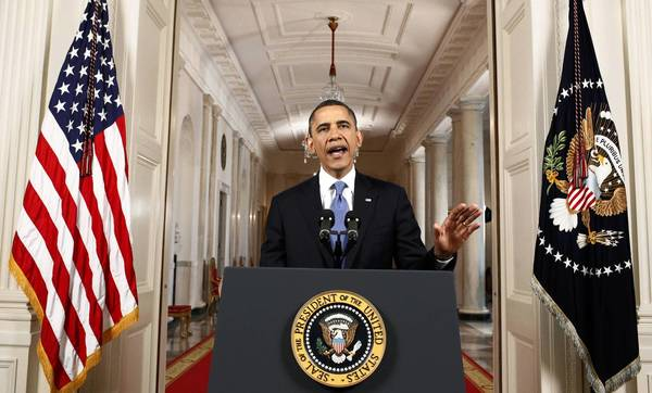 President Barack Obama makes a statement about the Supreme Court's decision on his Administration's health care law in the East Room of the White House in Washington.