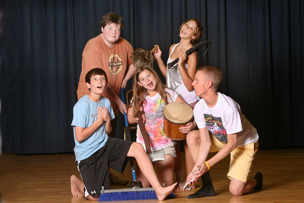 Hagerstown Childrens Theater Summer Camp Improv Troupe will present an original show, Saturday Night Live! in Hagerstown Saturday, June 30, at The Academy Theater in downtown Hagerstown. The cast includes, front, from left, Jason Marinelli, Addie Prosser and Connor Abeles; and, standing, Alex Marinelli and Kaitlin McSwine.