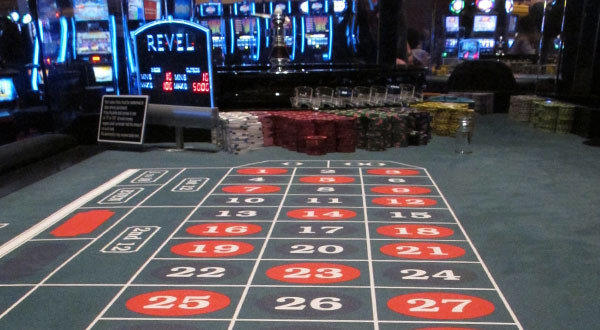A roulette table awaits gamblers at Revel in Atlantic City, N.J.