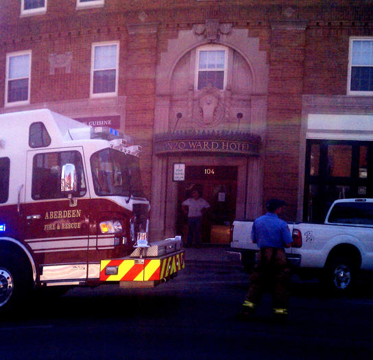 Gas leak reported at Ward Hotel