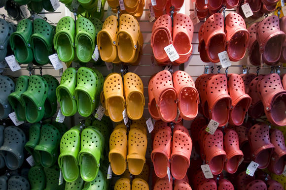 Crocs on display