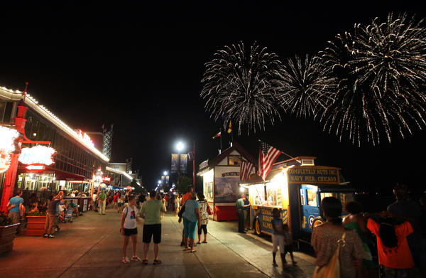 Fireworks at Navy Pier in Chicago in July 2011.