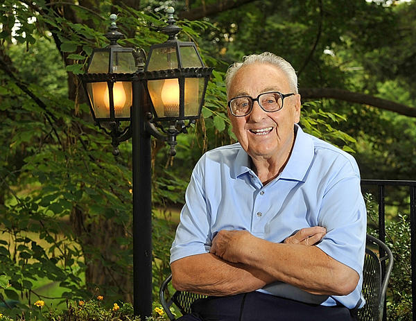 """Community leader John R. """"Jack"""" Hershey Jr. strikes a casual pose in this Oct. 19, 2012 file photo."""
