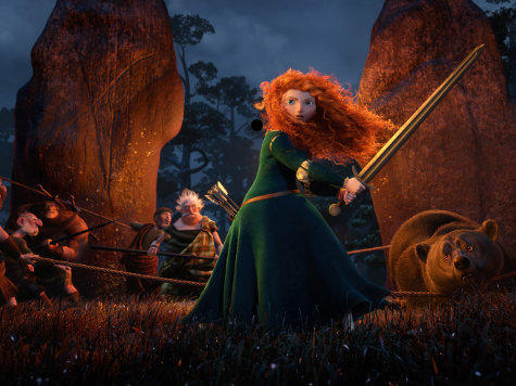 Brave is set in the Scottish Highlands and tells the story of a hot-tempered Celtic princess called Merida Photo: Pixar