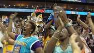 At the New Orleans Arena fans celebrated when the Hornets selected Anthony Davis as the first overall pick in the NBA draft Thursday.