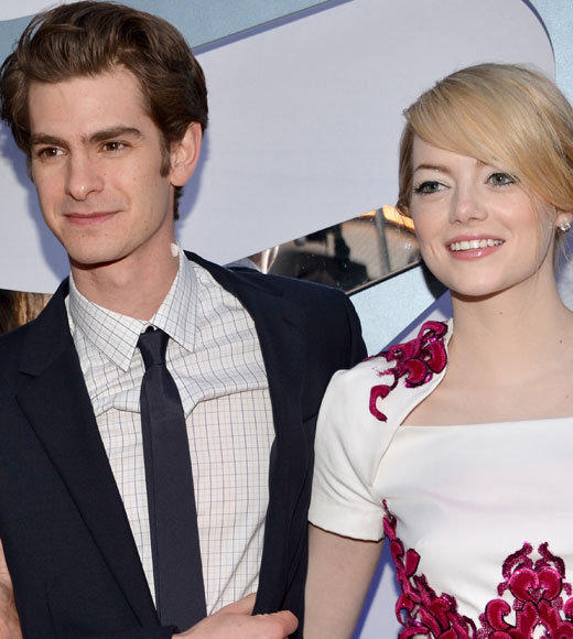 Emma Stone and Andrew Garfield: A red carpet romance: Amazing Spider-Man co-stars Emma Stone and Andrew Garfield are a for-realzies cute couple. Heres photographic proof.