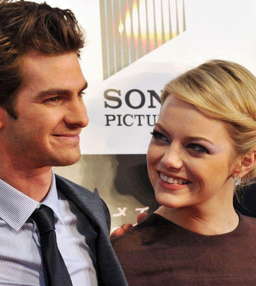Emma Stone and Andrew Garfield: A red carpet romance: The look of love - Part 1