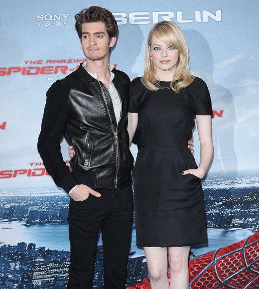 Emma Stone and Andrew Garfield: A red carpet romance: In good clothes...