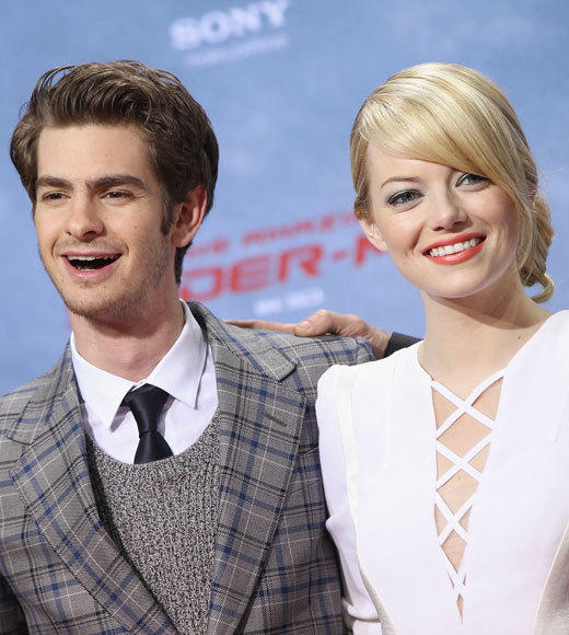 Emma Stone and Andrew Garfield: A red carpet romance: Glammed up...
