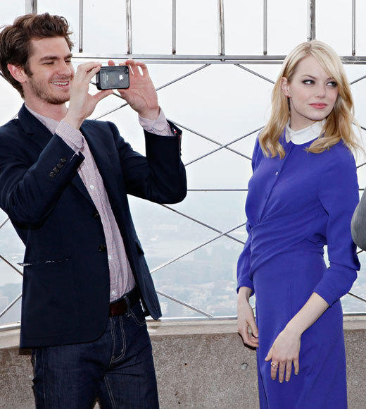 Emma Stone and Andrew Garfield: A red carpet romance: A picture really does last longer