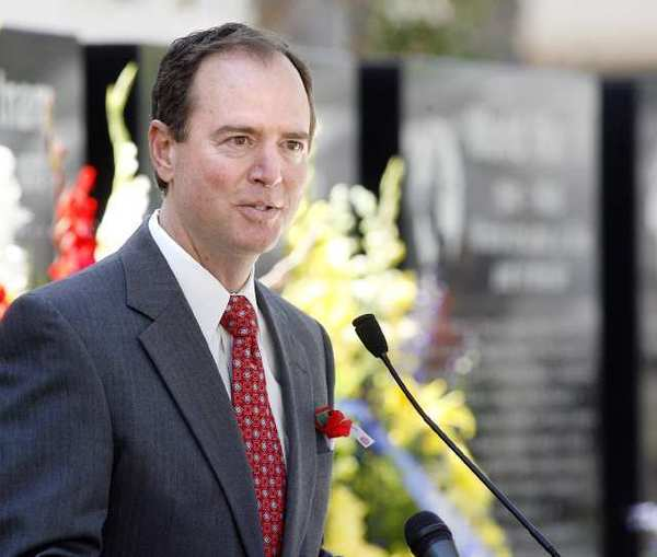 "Rep. Adam Schiff (D-Burbank)at a Memorial Day event in Glendale last month. Schiff called Thursday's ruling ""the correct legal decision."""