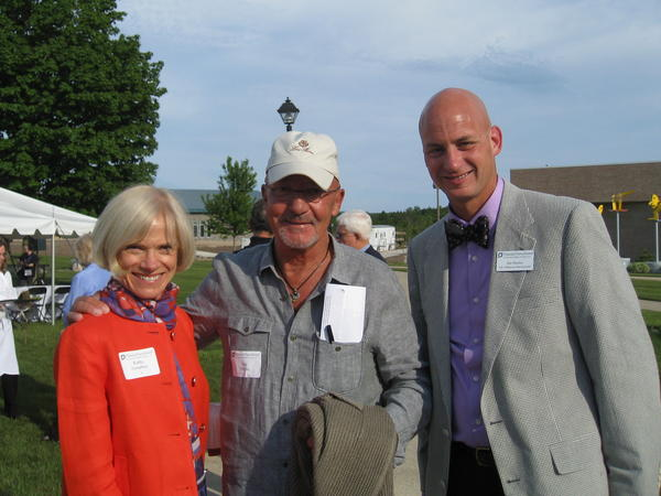 Katherine Humphrey, Jim Offield and Jim Norton gather in support of Planned Parenthood.