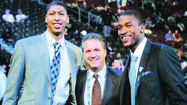 They were nearly inseparable at Kentucky and often were each others biggest cheerleaders. Perhaps that's why it was only fitting that Kentucky stars Anthony Davis and Michael Kidd-Gilchrist were inseparable at Thursday's NBA draft as well.
